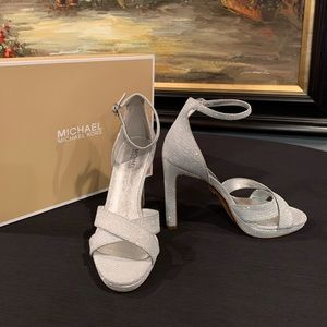 Brand New MK Silver Dress Pump, Size 5.5 and 6